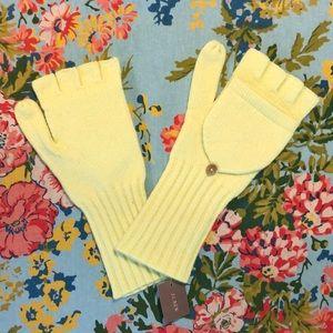 J Crew semi fingerless Gloves